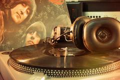 Vintage beatles album Stock Photos
