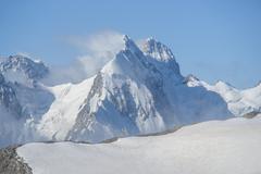Winter landscape in the caucasus Stock Photos
