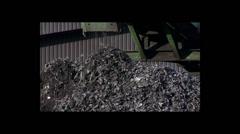 Recycled metal shavings Stock Footage