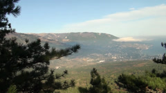 Kind on the Crimean mountains, panoramas of Crimea Stock Footage