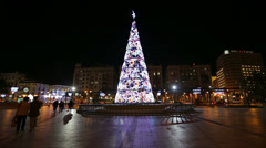 Malaga Christmas Decoration Stock Footage
