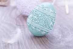 Beautiful easter egg decoration colorfull eggs seasonal pastel Stock Photos