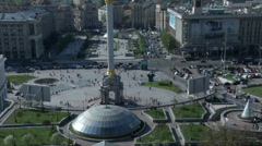 Independence Square in Kiev Stock Footage