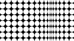 Op Art dots loop. - stock footage