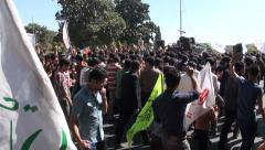 Shia muslims celebrate important religious event in Iran Stock Footage