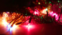 Christmas light Stock Footage