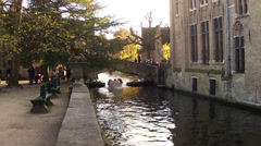 Bruges, Brugge, Belgium. Stock Footage