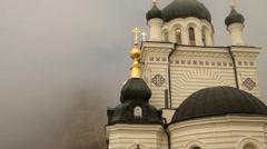 A church is in Foros, church on grief, Crimea Stock Footage