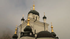 A church is in Foros, church on grief, Crimea Stock Footage