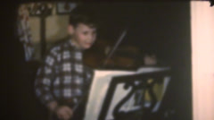 1950's & 60's  vintage, violin lessons Stock Footage