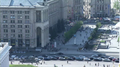 Panorama in the center of Kiev Stock Footage