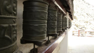 Stock Video Footage of Buddhism. Prayer wheels