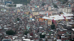 Favela Rocinha pan Stock Footage