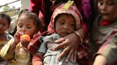 Children in Nepal Stock Footage