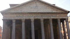 Frontal View of pantheon Tilt Up - stock footage