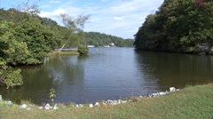Lake Lure Park Stock Footage