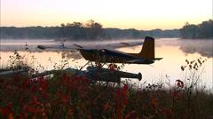 Seaplane Sunrise Stock Footage
