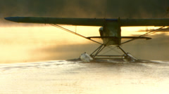 Dusk Seaplane Stock Footage