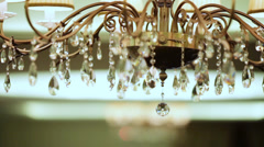Crystal suspension brackets Stock Footage
