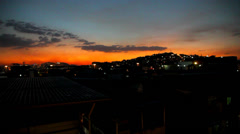 Complexo do Alemão sunset Stock Footage