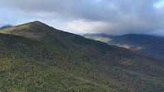TIME LAPSE of Mountain in the Clouds - Fall Foliage Stock Footage