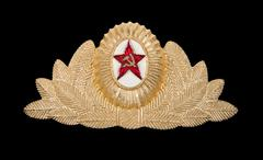military insignia of the soviet army - stock photo