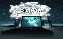 Word cloud with terms of big data Stock Illustration