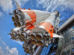 Russian space transport rocket Stock Photos