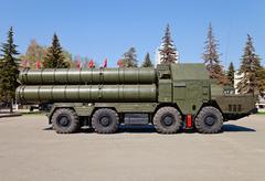russian anti-aircraft complex s-300 - stock photo