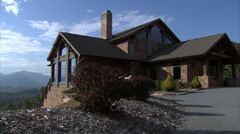 Smoky Mountain House Pan Stock Footage