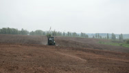 Stock Video Footage of cat tractor harrow field