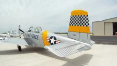 T-34 Mentor on Ramp Denton Texas Airshow - stock footage