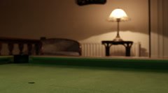 Playing Pool Red ball passing Stock Footage