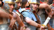 Stock Video Footage of Roman army 10 (swords drawn)