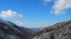 Smoky White Mountain Valley Winter 2 HD Stock Footage