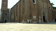 Basilica Frari 02 Stock Footage