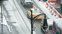 Snowstorm in NYC - stock footage
