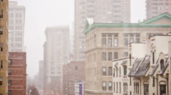 Snowstorm in NYC Stock Footage