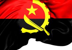 Stock Illustration of flag of angola