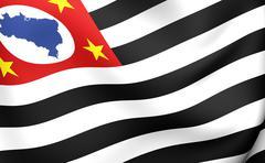 flag of sao paulo - stock illustration