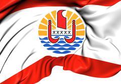 Flag of french polynesia Stock Illustration