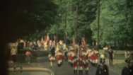 Stock Video Footage of 1950's & 60's  vintage, Minute Men parade