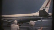Stock Video Footage of 1950's & 60's  vintage airport plane