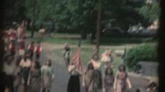 Vintage 8mm film , Brownie ,Girl Scouts Stock Footage