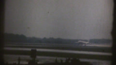 1950's & 60's  vintage Airplane taking off Stock Footage