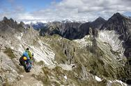 Stock Photo of Austria, Tyrol, Karwendel mountains, Mountaineers in Alps
