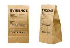 evidence bag - stock photo