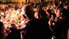 Mandela Death - Houghton Residence - reveal mourners 01-11 Dec 2013 Stock Footage