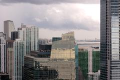 Miami Towers alle Pilvet Kuvituskuvat