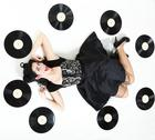 Stock Photo of phonography analogue record girl pin-up retro